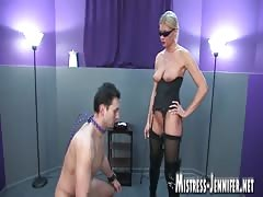 Kinky and brutal domination from a blonde MILF