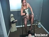 Sexy domina humiliates and torture her slave