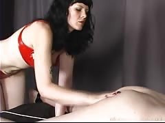 Fat ass spanked until it turns red
