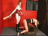 Piteous old man sissy slave ass spanked severely