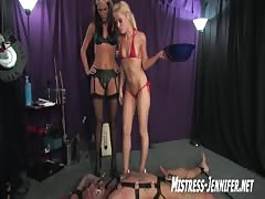 Extreme kinky threesome scene in the dungeon