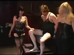 Torturing male slave just for fun