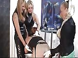 Three strapon MILF do pegging