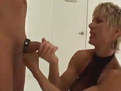 Busty MILF pegging torture