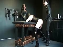 Punished by two tough femdom