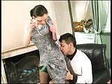 Mistress gives a super dominant pegging