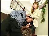 A horny dominant girl with strapon