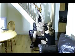Tied her slave and tortured