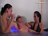 Lesbian domination in the bath tub