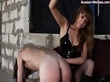 Tortured in ass spanking and whipping