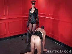 Boot slave of Mistress Nikita