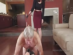 Whipping and foot worshipping