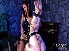Hardcore pussy eating and ball busting