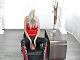 Smother box training from blonde mistress