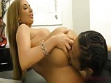 Richelle Ryan seduces black guy in the office