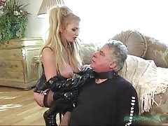 Busty Taylor Wane allows old man to eats her pussy