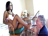 Candice Nicole with her old man smother slave