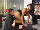 Wild ass and pussy worshiping in the office