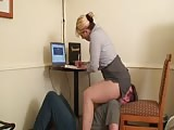 Human chair in the office