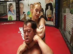 Mixed wrestling with Morgan Del Ray