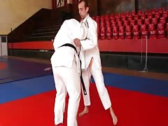 Slave's discipline in Judo fight