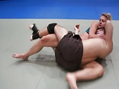 Brutal woman revenge through mixed wrestling