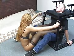 Chair bondage smothering punishment
