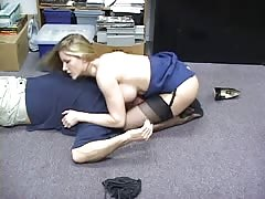 Office girl loves to smother