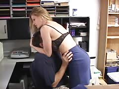Breast smothering  by her office manager