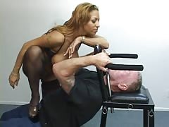 Brutal smothering in the chair