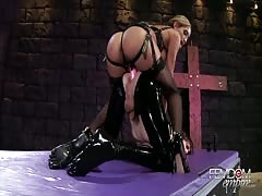 Anal drilling by evil mistress