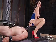 In the smother box humiliated