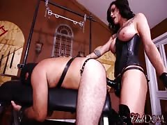 Pegging her bitch slave